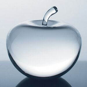 Stylized Apple - Optic Crystal